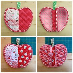 Orchard quilted hot pads by Snippy Sisters. Pattern by Charise Creates.