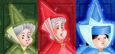 *FAUNA, MERRYWEATHER & FLORA ~ Sleeping Beauty, Released: 1959