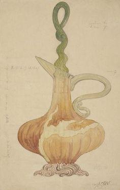 dessins d'études, Emile Gallé, Musée d'Orsay