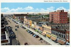Postcards of the Past - Vintage Postcards of Kansas, USA Arkansas City Kansas, Kansas Usa, State Of Kansas, Ponca City, Land Of Oz, Interesting Buildings, Vintage Postcards, Small Towns, Paris Skyline