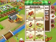 Farm Story 2 | General Shop| UI, HUD, User Interface, Game Art, GUI, iOS, Apps, Games, Grahic Desgin, Farm Game, World Building | www.girlvsgui.com