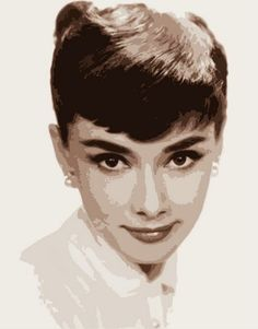 handmade modern portrait Audrey Hepburn picture oil painting on canvas wall art for living room unique gift free shipping #Affiliate