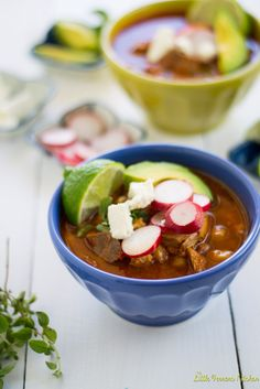 Pozole Rojo (Mexican Stew with Pork and Hominy)