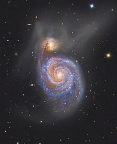 M51: The Whirlpool Galaxy (June 2 2012)  Image Credit & Copyright: Marco Burali, Tiziano Capecchi, Marco Mancini (Osservatorio MTM) Follow the handle of the Big Dipper away from the dipper's bowl until you get to the handle's last bright star. Then, just slide your telescope a little south and west and you might find this stunning pair of interacting galaxies, the 51st entry in Charles Messier famous catalog. (...) #astronomy