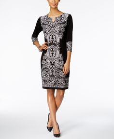 Jm Collection Printed Sheath Dress, Only at Macy's