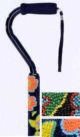 Deluxe Cane Expressions Cane Covers :: Beaded and sequined fabric covers for walking canes