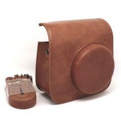 Amazon.com: NodArtisan Vintga PU Leather fuji mini case for Fujifilm Instax Mini 8 Case bag: Electronics
