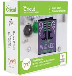 Creepy Critters Cricut Cartridge, New in Package, Not Linked, Nancy Kubo Design, Cricut Halloween Provocraft cartridge scrapbooking die cuts #DieCutCartridge #CricutCartridge #HandmadeCards #CreepyCritter #MoondancerCrafts #CardMaking #scrapbooking #ScrapbookingDieCut #CricutHalloween #NancyKuboDesign