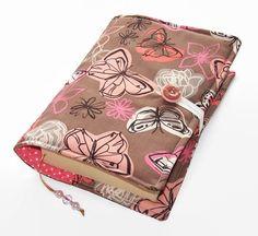 Handmade Fabric Book Cover Butterflies