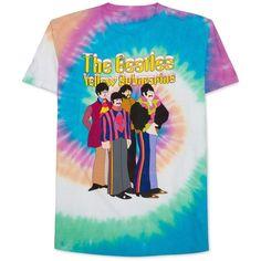 Hybrid Men's Beatles-Print T-Shirt (40 AUD) ❤ liked on Polyvore featuring men's fashion, men's clothing, men's shirts, men's t-shirts, multi tye dye, mens patterned shirts, mens tie dye shirts, mens leopard print t shirt, mens tie dye t shirts and mens cotton t shirts
