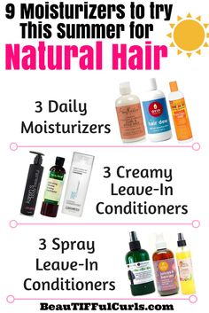 Natural Hair Leave In Conditioners
