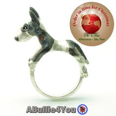 Fully Customized English Bull Terrier Ring, Handmade from 925 sterling silver. Ideal Christmas gift by ABullie4You on Etsy https://www.etsy.com/listing/244321055/fully-customized-english-bull-terrier