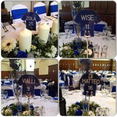 Wedding Table Names - Chelsea FC Legends