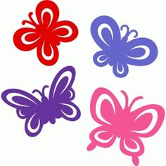 Silhouette Design Store - View Design #63842: butterfly set