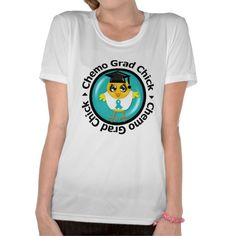 Ovarian Cancer Chemo Grad Chick T Shirts by www.allaboutchicksgifts.com