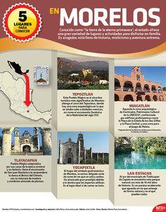 """Conocido como """"la tierra de la eterna primavera"""", Morelos ofrece una gran variedad de lugares y actividades para disfrutar en familia. #InfografíaNTX"""