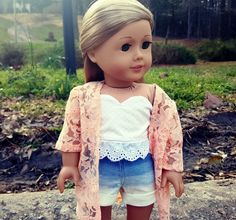 american girl doll ombre shorts by SewCuteForever on Etsy