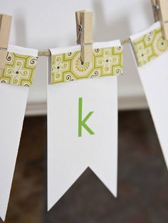 How easy is this!! With a rubber stamp alphabet even that much EASIER!