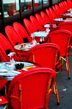 ☕ #Paris Café #coffee ☕ #red chairs www.etsy.com/listing/80853439/paris-photo-red-cafe-chairs-in-paris