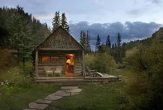 a restored 1800s cabin, dunton, colorado