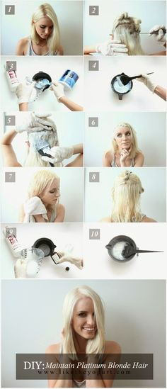 DIY Maintaining Platinum Blonde Hair