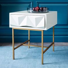 Sculpted Geo Side Table | west elm