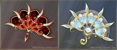 War Fans 4 (OPEN) Offer your price! by Rittik-Designs Ninja Weapons, Anime Weapons, Fantasy Weapons, Armas Ninja, Magic Symbols, Magical Jewelry, Weapon Concept Art, Magic Art, Anime Outfits