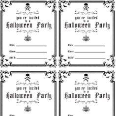 Free Printable Halloween Invitations Ideas | ... Halloween ...