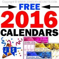 ►► FREE 2016 CALENDARS ►► Jewelry Secrets