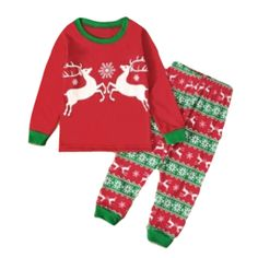 Let your little one feel the season of Christmas in this Reindeer sleepwear set. Made with the finest polyester and cotton materials. Boys Christmas Outfits, Baby Girl Christmas, Christmas Pajamas, Christmas Sweaters, Christmas Print, Kids Christmas, Merry Christmas, Christmas Gifts, Elf