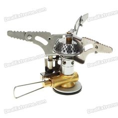 Ultra Mini Portable Outdoor Metal Gas Stove with a Case (2*AG3) - Free Shipping - DealExtreme