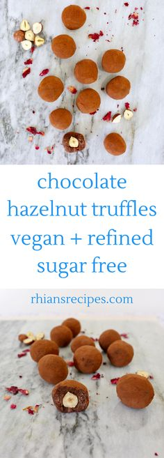 These Vegan Chocolate Hazelnut Truffles are luxuriously creamy, insanely moreish and undetectably dairy-free! Also refined sugar free.