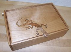 Here's an outside shot of this alder box by Betsi Packwood.