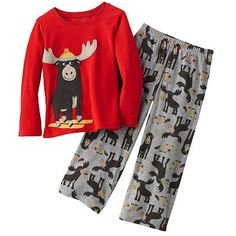 $16   Carter's Skiing Moose Pajama Set - Boys 4-12