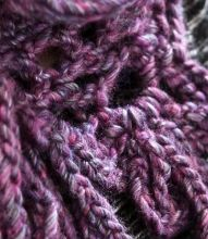 Free crochet scarf pattern using super bulky wool