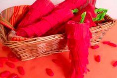 How adorable are these mini chili pepper piñatas?!
