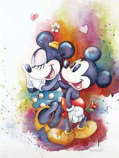 Mickey and Minnie Mouse Disney Fine Art Michelle St. Laurent Holding Hands Giclée on Canvas Size: 24 x 18 Edition of 195 Disney Fine Art Disney Mickey Mouse, Arte Do Mickey Mouse, Mickey Mouse E Amigos, Mickey Love, Mickey Y Minnie, Mickey Mouse And Friends, Cute Disney, Disney Dream, Disney Magic
