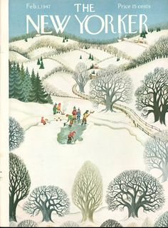 New Yorker covers, winter