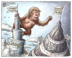 Political Cartoons of the Week: Trump Tower Political Satire Cartoons, John Trump, Donald Trump, Enemy Of The State, Trump Tower, Easy Drawings, American History, Original Artwork, Politics