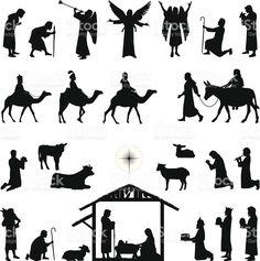 Natividade vetor e ilustração royalty-free royalty-free