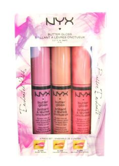 NYX Cosmetic - Limited Edition 3 Butter Lipgloss Set Perfect Gift Set Fast Ship NYX, BEAUTY FINDS if you wish to buy enter AMAZON right HERE http://www.amazon.com/dp/B00DV81430/ref=cm_sw_r_pi_dp_Q6OJsb1FP94W1WVJ
