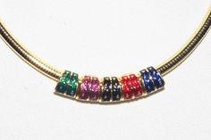 Signed Slide Necklace Interchangeable by Joan by MardiGrasShoppe