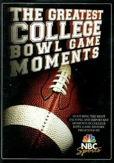 The Greatest College Bowl Game Moments DVD BRAND NEW SEALED FREE SHIP & TRACK US