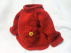 #Baby Pullover# in Handarbeit gefertigt aus Bio zertifizierterm und GOTS Merinogarn.