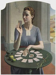 A Game of Patience: 1937 by Meredith Frampton - Art Deco