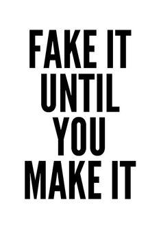 FAKE Poster typography art wall decor mottos design by mottosprint