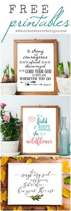 I created a set of printables that I thought I'd share with you today! These designs are inspired by my wood signs but are available to download for free. You c