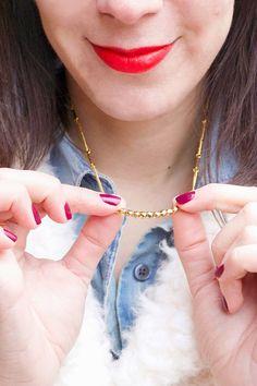 ADVENTURES IN FASHION: DIY || Delicate Beaded Necklace