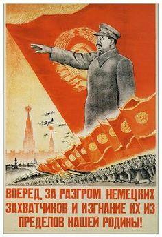 """""""¡Avancemos, y destruyamos a los invasores Alemanes, expulsémoslos fuera de la patria"""""""
