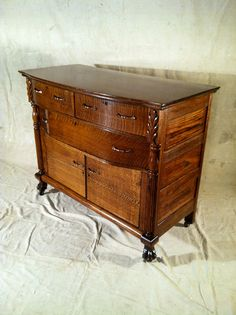 Antique Sideboard w/bowed front....I love It!!